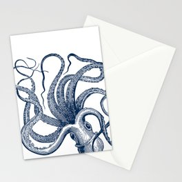 Octopus Navy Stationery Cards