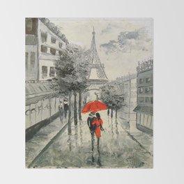 Paris Paris Throw Blanket