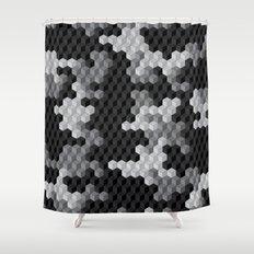 CUBOUFLAGE BLACK & WHITE Shower Curtain
