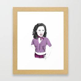 Jawbreaker (Rose McGowan as Courtney Shane) Framed Art Print