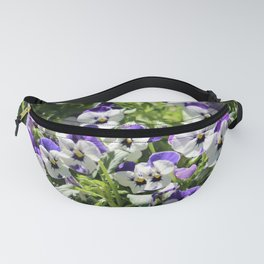 Perky Face Pansies Fanny Pack