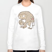 sasquatch Long Sleeve T-shirts featuring Sasquatch by rebecca miller