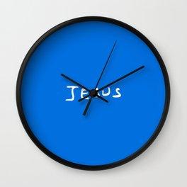 Jesus 2 blue Wall Clock