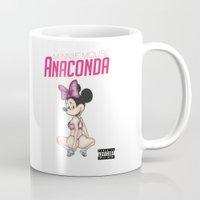 anaconda Mugs featuring Minnie Minaj Anaconda  by J. Neto