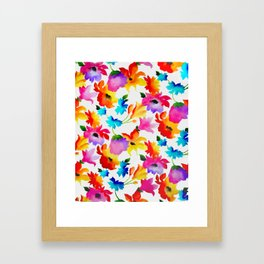 Dancing Floral Framed Art Print