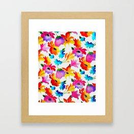 Dancing Floral Framed Art Print