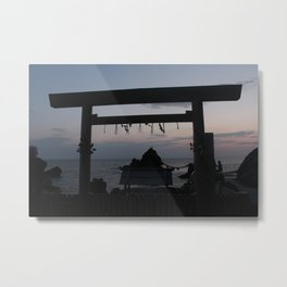 Torii at dawn Metal Print