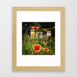 Bee Sanctuary Garden Framed Art Print