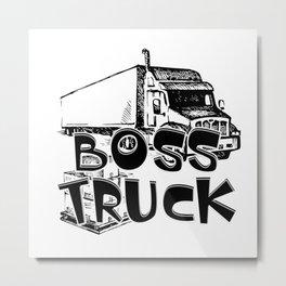 Boss Truck Metal Print
