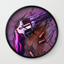 The Wheel Gun Wall Clock