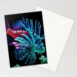 Rainbow Lionfish Stationery Cards