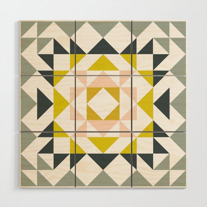 Pretty Triangle Modern Medallion Wood Wall Art