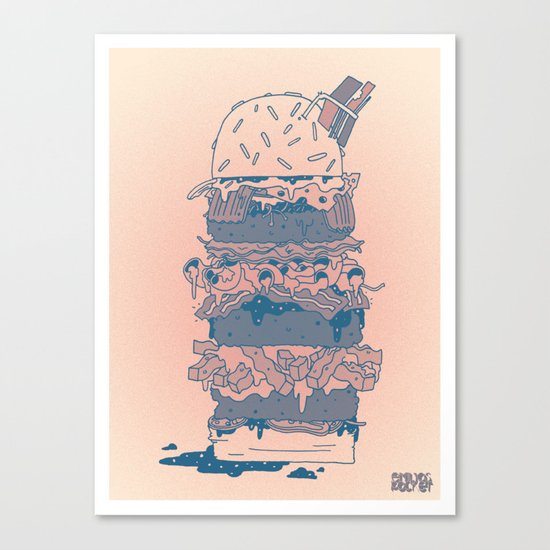 Mighty Burger Canvas Print