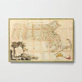 Map Of Massachusetts 1801 Metal Print