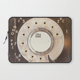 Rotary Phone Dial, Vintage Phone Laptop Sleeve