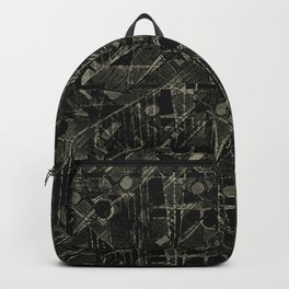 Abstract Collage Patchwork Pattern Backpack