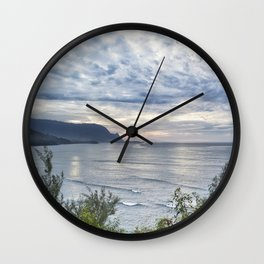 Hannalei Bay Sunset Wall Clock