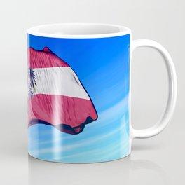 Austria flag waving on the wind Coffee Mug