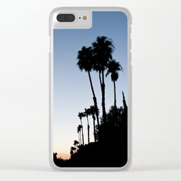 Palm Trees Sunset Clear iPhone Case