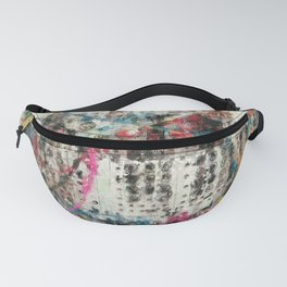 Analog Synthesizer, Abstract painting / illustration Fanny Pack