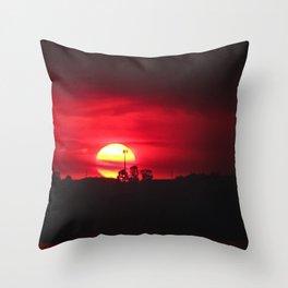 Smokey sunset Buff Point NSW Throw Pillow