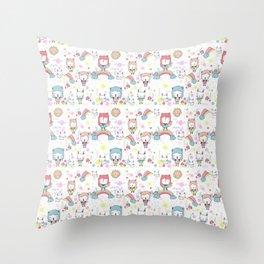 Rainbowland Throw Pillow
