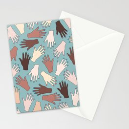 Nail Expert Studio - Colorful Manicured Hands Pattern Stationery Cards