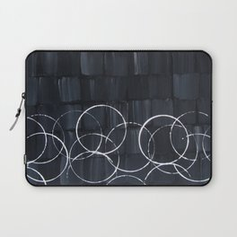"No. 34 - Print of Original Acrylic Painting on canvas - 16"" x 20"" - (Black and white) Laptop Sleeve"