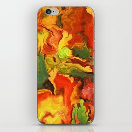 abstract fall leaves iPhone Skin