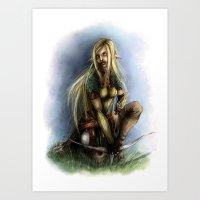 elf Art Prints featuring Elf  by Gilthonniel's Shop