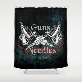 guns 'n' needles Shower Curtain