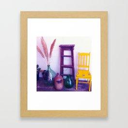 wait here (not mono) Framed Art Print