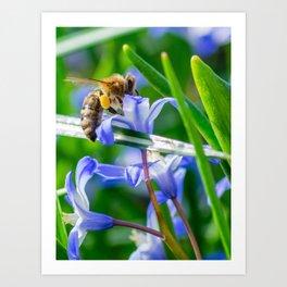 BeesWork Art Print