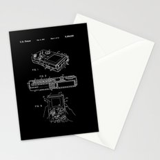 Nintendo Gameboy Patent - White on Black Stationery Cards