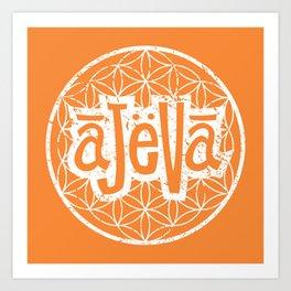 Ajeva Logo Orange Art Print