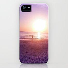 Fluorescent Beach iPhone Case