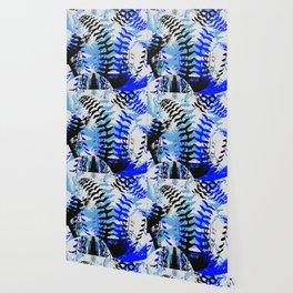 Baseball Abstract Blues Wallpaper