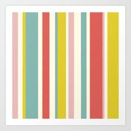 Candy Stripe Pattern Art Print