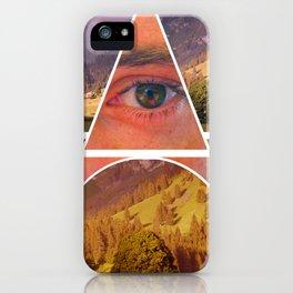 Eye Vs Mountain  iPhone Case