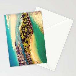 Ala Moana Beach Park, Magic Island, and Diamond Head  Stationery Cards