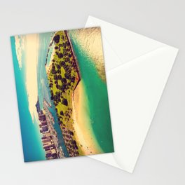 Ala Moana Beach Park, Magic Island, and Diamond Head  Stationery Cards