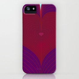 I Heart Lines iPhone Case