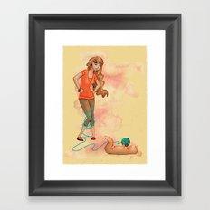 Tangled Trouble Framed Art Print