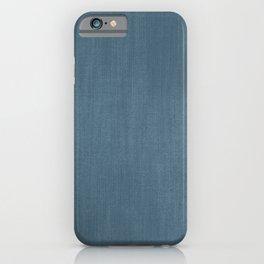 Blue Indigo Denim iPhone Case