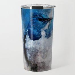 Watercolour Ultramarine Flycatcher Bird Travel Mug
