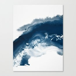 Building the Universe:  A minimal abstract acrylic painting in blue and white by Alyssa Hamilton Canvas Print