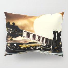 Gitarren bei Vollmond Pillow Sham