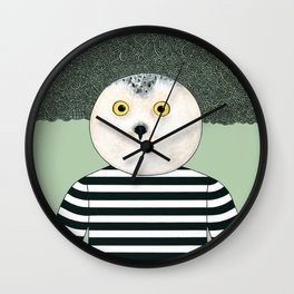 Black & White Owl Wall Clock