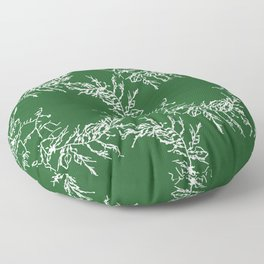 Green Seaweed Pattern Floor Pillow