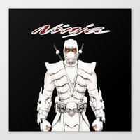 ninja Canvas Prints featuring Ninja by Afaalstore